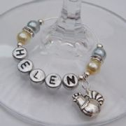 Chicken Personalised Wine Glass Charm - Elegance Style